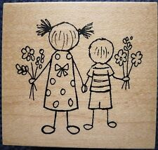Great Impressions Rubber Stamp, April Showers Bring May Flowers, Children, E576