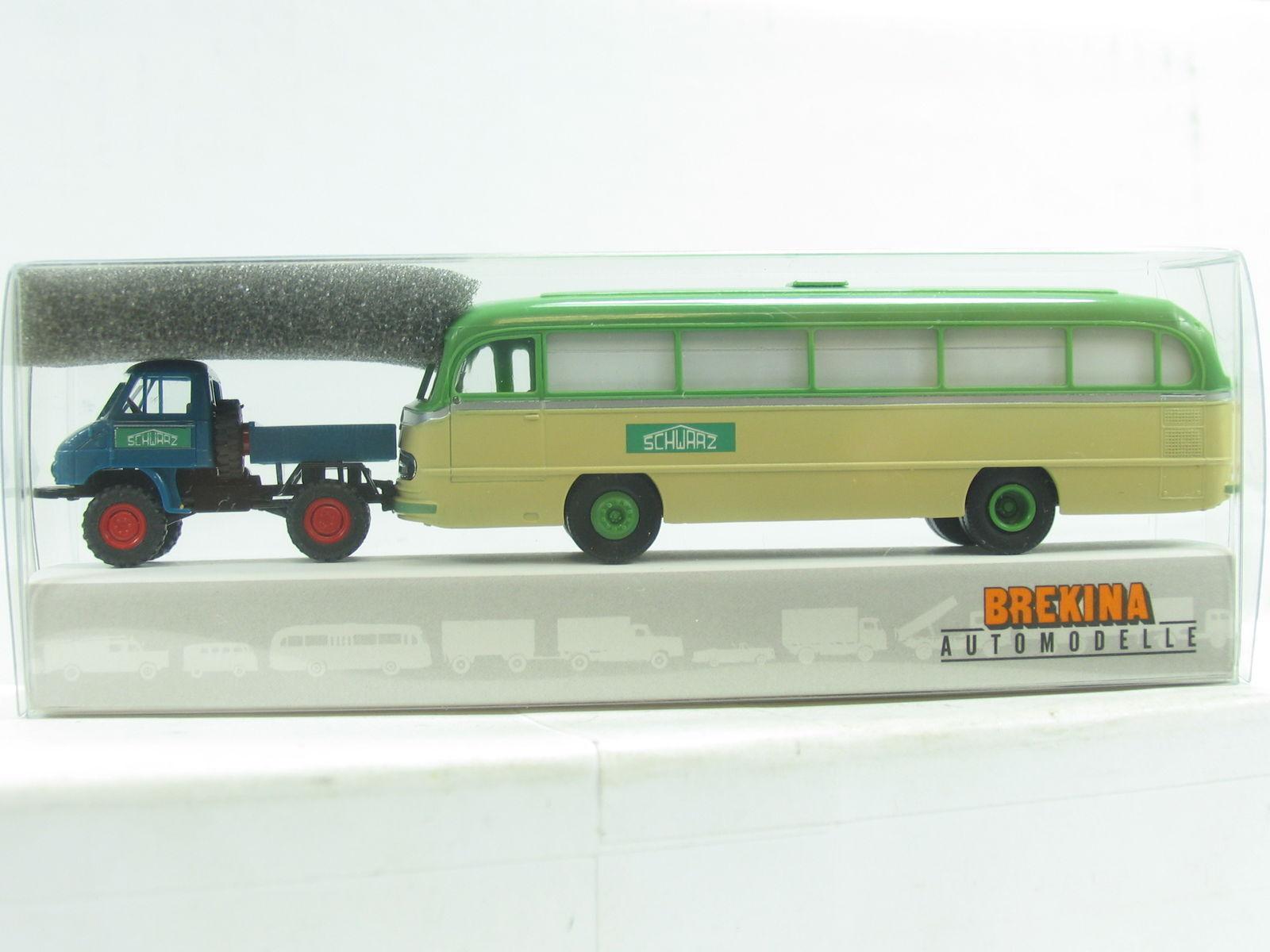 Brekina Brekina Brekina 39110 MB Unimog 411 + omnibus