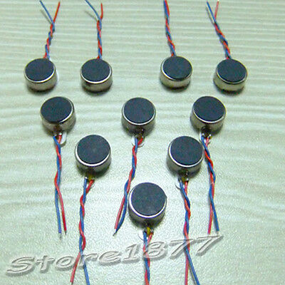 10x Coin Flat Vibrating Micro Motor DC 3V Fit For Pager and Cell Phone Mobile OS