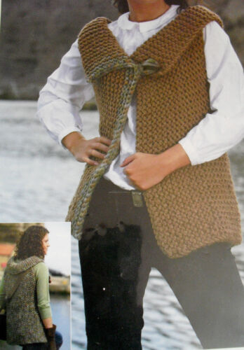 """R#33 CHUNKY KNITTING PATTERN LADIES LOVELY ONE OR TWO COLOUR JACKET 32-42/"""""""