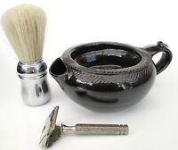 Shaving Scuttle Bowl Medium #1 Teak Hand Made/Crafted - Steve Woodhead Ceramics
