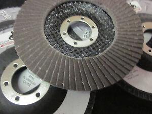 "100 ~ ALUMINUM OXIDE 80-GRIT 4-1//2/"" SANDING GRINDING WHEEL FLAP DISC 7//8/"" ARBOR"