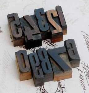 0-9-Zahlen-Mix-Holzlettern-Letter-Holzzahlen-Zahl-Vintage-Handstempel-wood-type