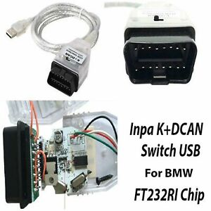 INPA K+CAN USB Interface OBD2 OBDII 16 Pin Car Diagnostic Tool Cable For BMW