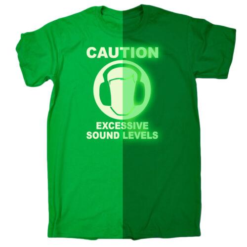 Drôle Hommes T-shirts prudence excessive des niveaux sonores Musique Rock T-Shirt
