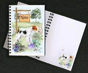 Wire-Fox-Terrier-Dog-Notebook-Notepad-small-image-on-each-page-by-Starprint