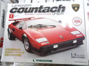 Deagostini Weekly Lamborghini Countach 1-80 Volumes Sports Car Model Kit NIB F S