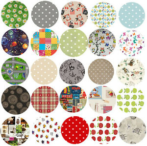 Ordinaire Image Is Loading Wipe Clean Tablecloth Oilcloth Vinyl PVC 140cm ROUND
