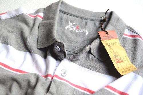 POLO by Jetlag Nuovo Taglia L JET LAG Estate T-Shirt Striped il 4987 Melange