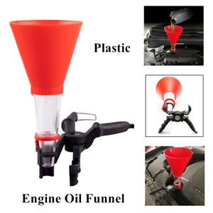 Car Refueling Funnel With Filter Detachable Hose Gasoline Engine Oil Additive