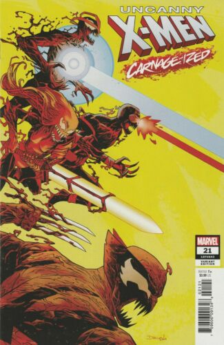 Carnage-ized Variant Cover VF+//NM Uncanny X-men #21