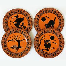 restoration hardware halloween vintage style tin plates set of 4 - Restoration Hardware Halloween