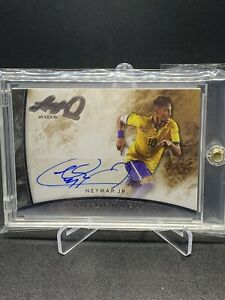 Neymar Jr. 2015 Leaf Q - SILVER Autograph Auto SP Short Print BRAZIL Soccer Star