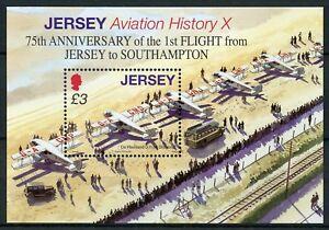 half off 53a3d f02d0 Details about Jersey 2009 MNH 1st Flight to Southampton De Havilland 1v M/S  Aviation Stamps
