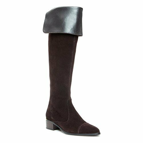 Donald J Pliner Divo Espresso Suede Brown Over-the-Knee Boot Size 6  428 NEW
