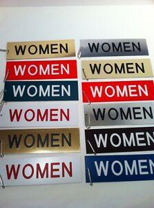 "12 New 3""x10"" Men's & Women's Restroom KeyTags Extra Large Plastic"