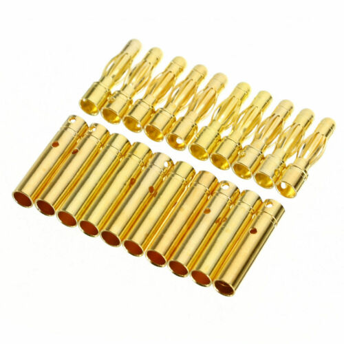 10 Paires Prise Connecteurs 4.0mm Banane Balle Utile Populaire Accessoires Mode