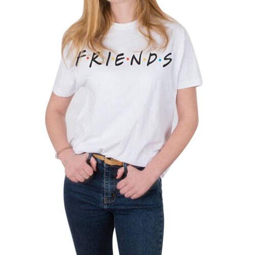 Damen Friends Kurzarm Bluse Shirt T-Shirt Tee Tank Tops inspired 90s retro neu