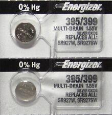 2 Pk 395 Energizer watch battery SR927W 395/399 SR927SW