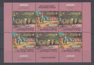 Le-Europe-Cept-2007-Scout-Scouts-Bosnie-Serb-Republique-de-H-Feuille-10-MNH