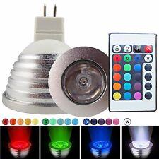 12V 3W RGB MR16 LED Bulb Lamp 16 Color Changing Spot Light + Free Remote Control