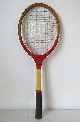 Originale Racchetta Da Tennis In Legno Big Boy Super Vintage