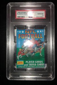 1989-Score-Football-Wax-Plastic-Pack-PSA-10-Possible-B-Sanders-Aikman-Rookie-RC