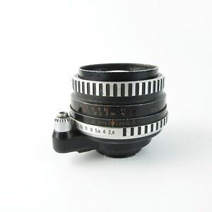 Para-Exa-Exakta-Carl-Zeiss-Jena-cebra-Flektogon-2-8-35-q1-objetivamente-lens-6-Blades