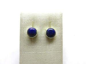 Lapis-Lazuli-Ohrstecker-Lapis-Earrings-925-Silber-Nr-E8001
