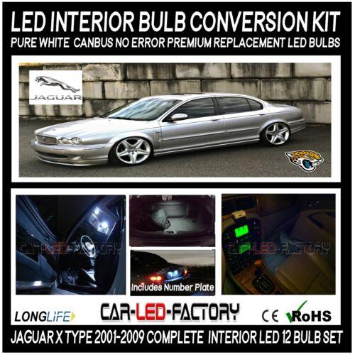 Premium LED Interior Light Conversion Kit JAGUAR X TYPE 2001-2009 Xenon White