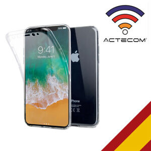 carcasas iphone x 360 transparente