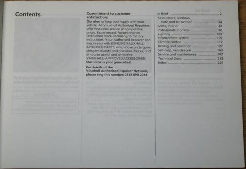 GENUINE VAUXHALL MERIVA A OWNERS MANUAL HANDBOOK WALLET PACK 2006-2010 K-777