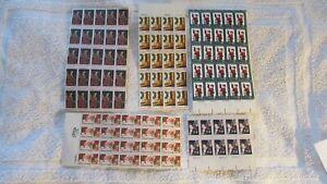 Lot of Unused Vintage Christmas Stamps Face Value $42.50 MNH Plates, Blocks