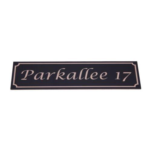Straßenschild Straßennamensschild Hausnummer 280 x 80 mm mit Gravur