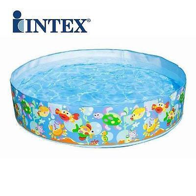 Intex Childrens/Kids Snapset Paddling Swimming Garden Play Pool 6'Foot 6FT x 15