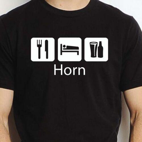 HORN EAT SLEEP DRINK HORN PERSONALISED T SHIRT