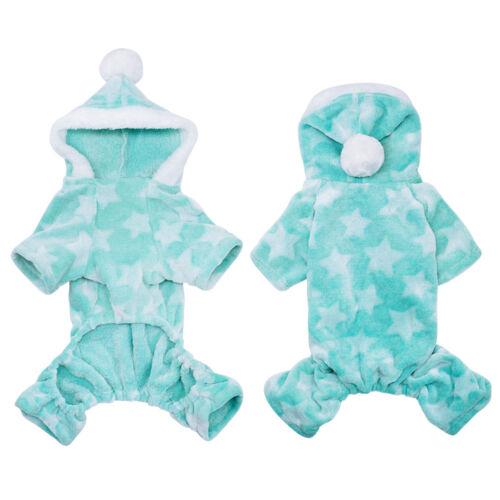Pet Puppy Dog Pajamas Jumpsuit Cute Soft Cotton Dog Coat Small Medium Dogs Cats