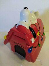 50th Anniversary Teleflora Peanuts  Christmas Snoopy Doghouse Cookie Treat Jar
