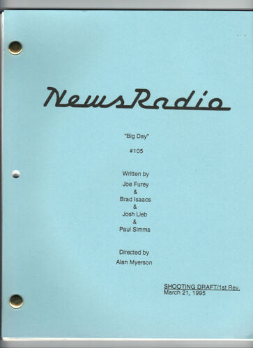 "NEWS RADIO show script ""Big Day"""