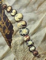 Victorian Trading Co Antique Repro Multiple Cameo Bracelet Handpainted