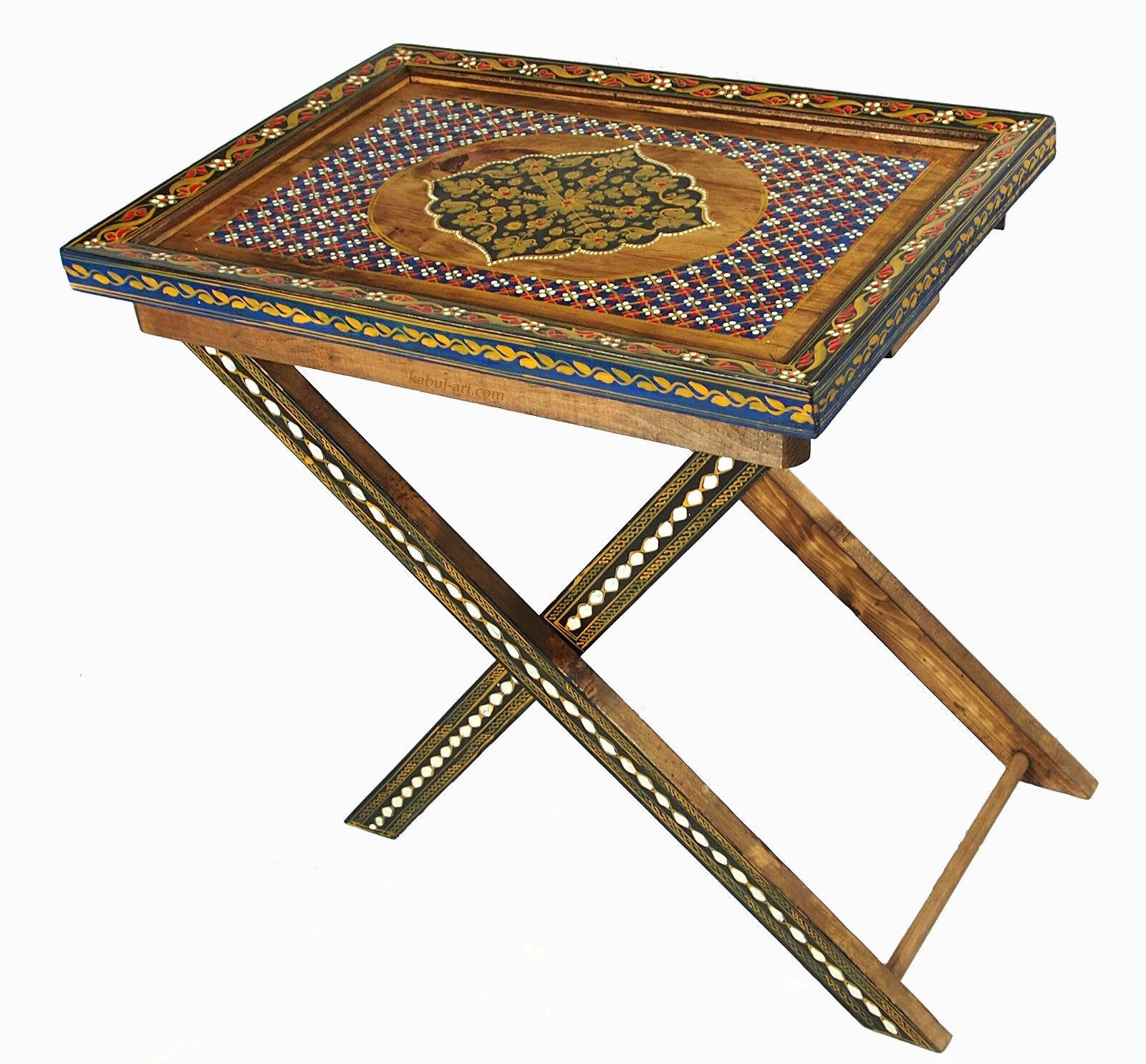 Orient desserte d'appoint table pliante thé plateau table trolley NR  E