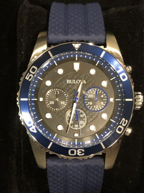 7a8db9096 Bulova Sport Chronograph Black Dial Men's Watch 98a190