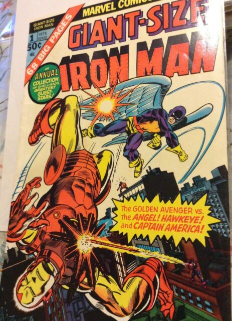 Giant-Size Iron Man 1st Issue, 1975 First App of Hawkeye from T of S