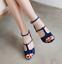 Women-Snakeskin-T-strap-Buckle-Stilettos-High-Heels-Open-Toe-Sandals-Shoes-SZ-A3 thumbnail 14