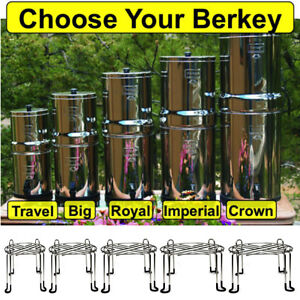 Berkey Water Filtration System W Wire Stand Crown