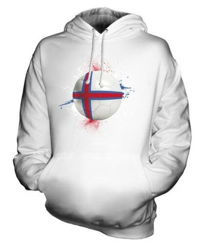 FAROE ISLANDS FOOTBALL UNISEX HOODIE TOP GIFT WORLD CUP SPORT