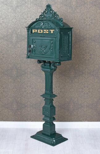 Briefkasten XXL Standbriefkasten Grün Postkasten Antik Gusseisen Postbox neu