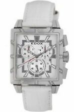 NEW Edox 01924 3D NAIN Womens Classe Royale Rectangle Chronograph Diamond Watch