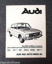 P231 - Advertising Pubblicità -1972- AUDI 60 L