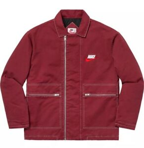 Supreme Nike Double Zip Quilted Work Jacket Burgundy L New ...